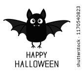 happy halloween. bat vampire.... | Shutterstock .eps vector #1170540823