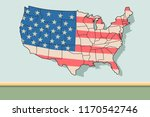 american flag vector | Shutterstock .eps vector #1170542746