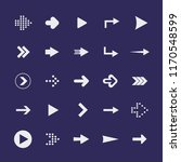 flat design paper arrows icon...