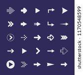 flat design paper arrows icon... | Shutterstock .eps vector #1170548599