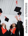 happy students in bachelor...   Shutterstock . vector #1170550333