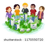 illustration of people looking... | Shutterstock .eps vector #1170550720