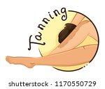 illustration of a girl using... | Shutterstock .eps vector #1170550729