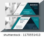 corporate business banner with... | Shutterstock .eps vector #1170551413