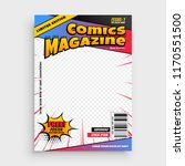 comic magazine book cover... | Shutterstock .eps vector #1170551500