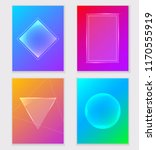 set of abstract colorful vector ... | Shutterstock .eps vector #1170555919
