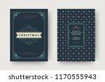 christmas greeting card design... | Shutterstock .eps vector #1170555943
