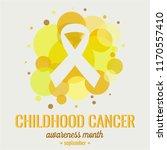 childhood cancer awareness... | Shutterstock .eps vector #1170557410