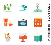 set of 9 simple icons such as... | Shutterstock .eps vector #1170558283