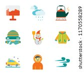 set of 9 simple icons such as... | Shutterstock .eps vector #1170558289