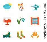 set of 9 simple icons such as... | Shutterstock .eps vector #1170558406