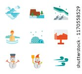 set of 9 simple icons such as... | Shutterstock .eps vector #1170558529