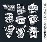 bundle of lettering handwritten ... | Shutterstock .eps vector #1170562756
