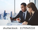 business people discussing... | Shutterstock . vector #1170565210