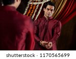 mirror reflection of young... | Shutterstock . vector #1170565699