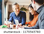 group of young business people... | Shutterstock . vector #1170565783