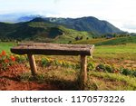The  Wooden Bench On The Top O...