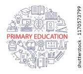 primary education icons set.... | Shutterstock .eps vector #1170573799