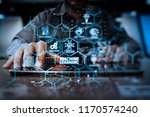 machine learning technology... | Shutterstock . vector #1170574240