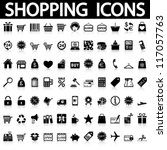 shopping icons set. vector | Shutterstock .eps vector #117057763