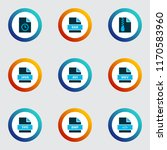 document icons colored set with ... | Shutterstock .eps vector #1170583960