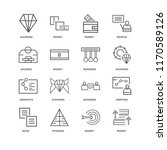 set of 16 simple line icons... | Shutterstock .eps vector #1170589126