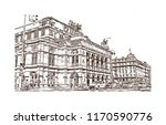 landmark building view of... | Shutterstock .eps vector #1170590776