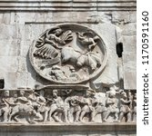 rome  italy. ancient triumphal... | Shutterstock . vector #1170591160