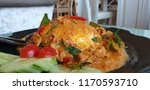 rice omelette cuury pork with... | Shutterstock . vector #1170593710