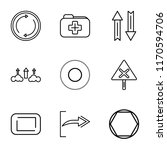 set of 9 simple icons such as...