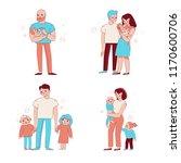 vector set of illustrations in... | Shutterstock .eps vector #1170600706