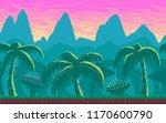 pixel art seamless landscape...