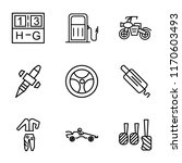 set of 9 simple icons such as... | Shutterstock .eps vector #1170603493