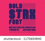 bold strx font set | Shutterstock .eps vector #1170604840