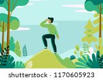 vector illustration in flat... | Shutterstock .eps vector #1170605923