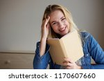 portrait of happy young woman... | Shutterstock . vector #1170607660
