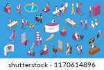beauty salon set with people on ... | Shutterstock .eps vector #1170614896