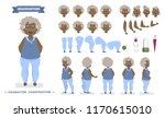beautiful elderly african... | Shutterstock .eps vector #1170615010