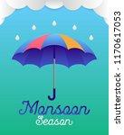 banner or poster of monsoon... | Shutterstock .eps vector #1170617053