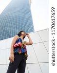 beautiful young indian woman...   Shutterstock . vector #1170617659