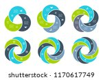 abstract flat elements of cycle ... | Shutterstock .eps vector #1170617749