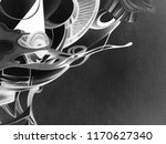 abstract black and white waves  ... | Shutterstock . vector #1170627340