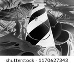 abstract black and white waves  ... | Shutterstock . vector #1170627343