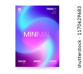 trendy minimalistic fluid... | Shutterstock .eps vector #1170629683