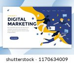 landing page template of... | Shutterstock .eps vector #1170634009