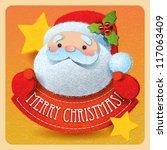 Christmas Card With Santa Claus ...