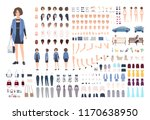fashionable young woman diy or... | Shutterstock .eps vector #1170638950