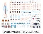 female doctor  therapist or... | Shutterstock .eps vector #1170638953