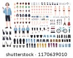 young teenage boy diy kit. set... | Shutterstock .eps vector #1170639010