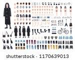 goth or metal rocker creation... | Shutterstock .eps vector #1170639013